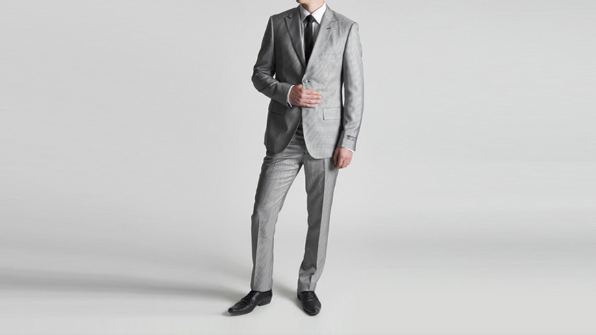 Model Photography men's suit