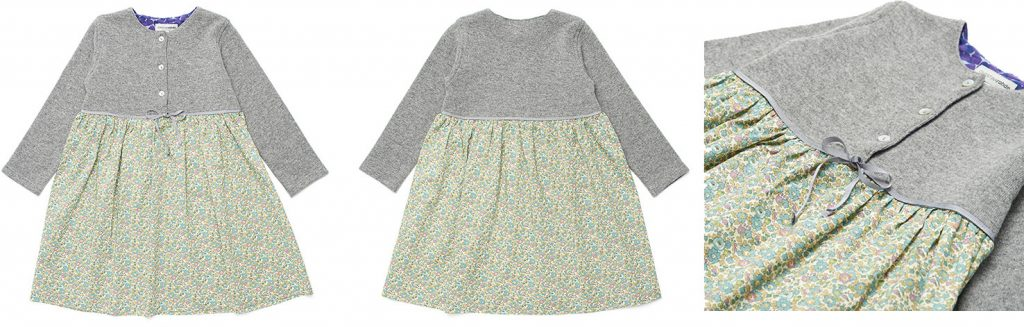 Children's & Baby Clothes Photography, green floral baby dress with a great top and buttons