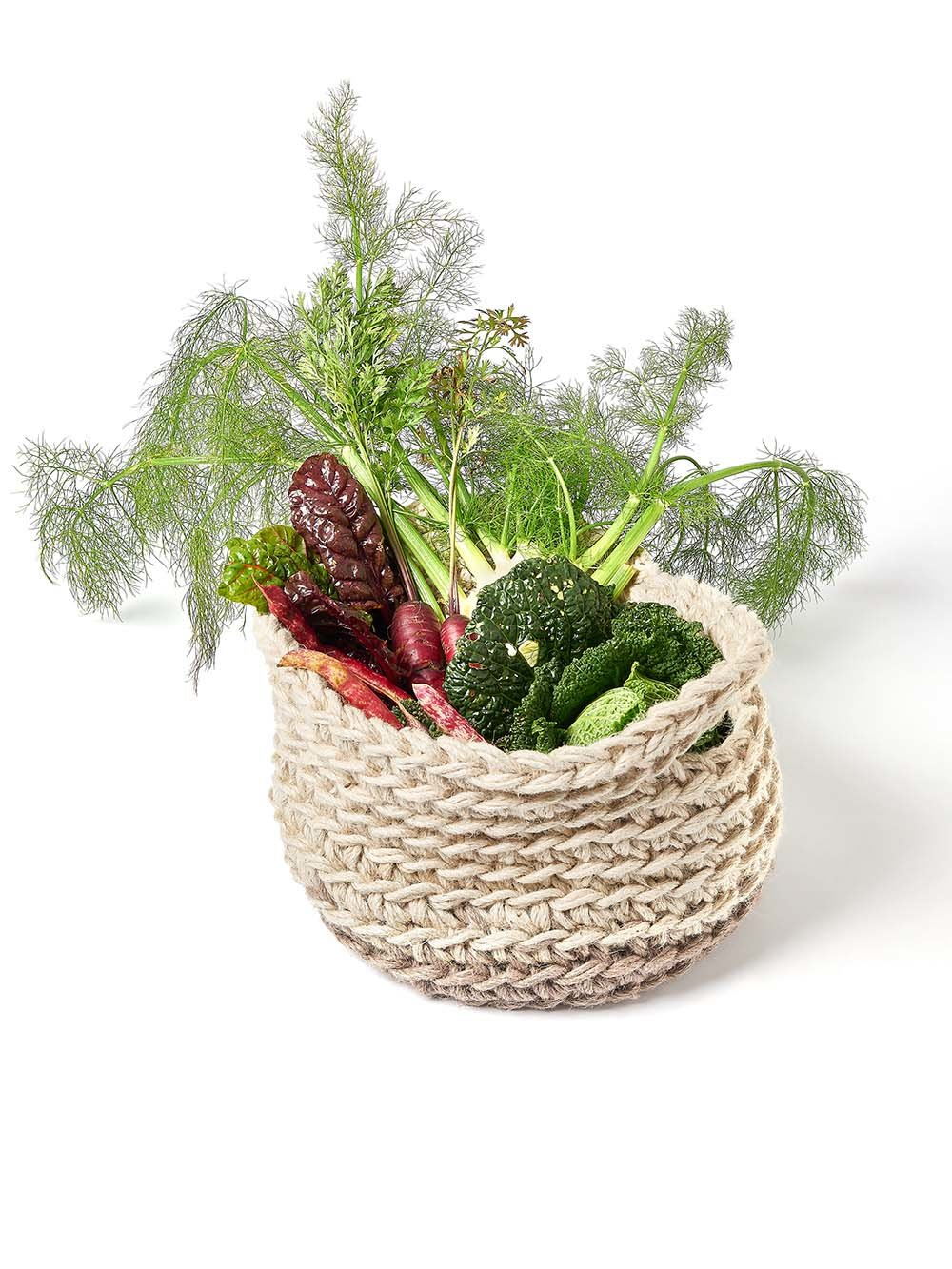 Handwoven trug for vegetables