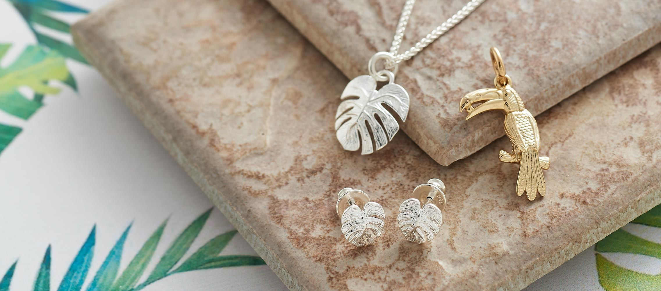 Lifestyle jewellery photograph cheese plant range