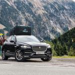 Amazon Product Photography, car rack on top of a Jaguar in the mountains